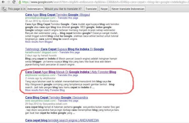 google-indeks
