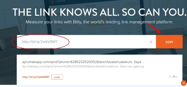 Image result for whatsapp bitly